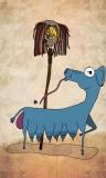 #12 Long Shop Mopela with Goatdog Blue (masked)
